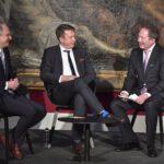 Prof. Dr. Dirk Niessing, Prof. Dr. Tobias Hirsch und Moderator Thorsten Otto
