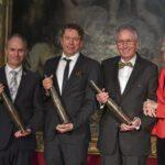 Prof. Dr. Dirk Niessing, Prof. Dr. Tobias Hirsch, Senatore e.h. Dr. h.c. Hans-Werner und Josephine Hector