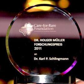Verleihung des ersten Dr. Holger Müller Preises an Dr. Karl Peter Schlingmann