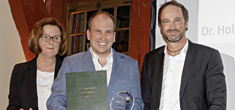 Dr. Holger Müller Preis 2019 an Dr. Sander Lambo