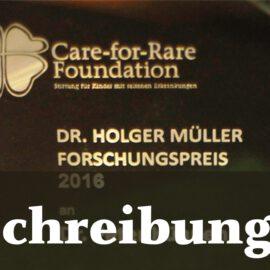 Ausschreibung: Dr. Holger Müller Preis 2020