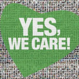 """YES, WE CARE!"" sagt Danke!"