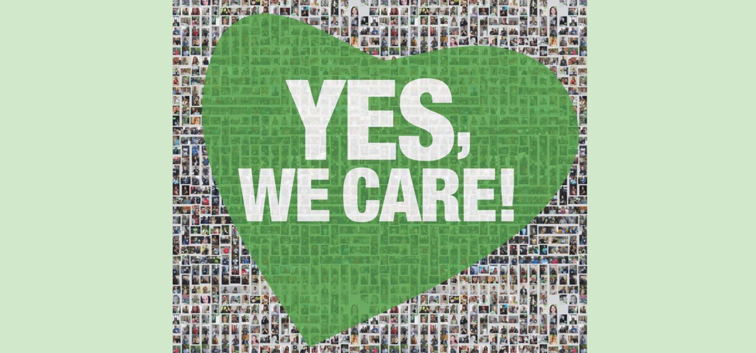 """""""YES, WE CARE!"""" sagt Danke!"""