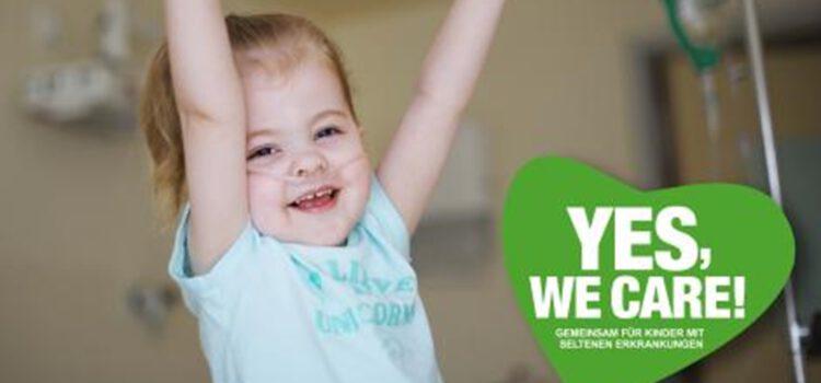 YES, WE CARE! Fotokampagne für Kinder mit seltenen Erkrankungen